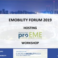 proEME round table at the EMOBILITY FORUM in Budapest